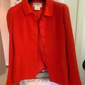 Vintage Chanel red jacket